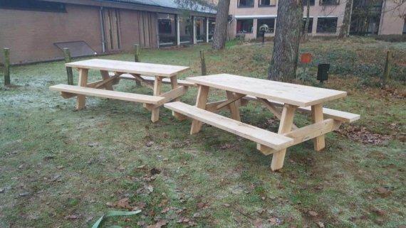 eiken picknicktafel 2 meter