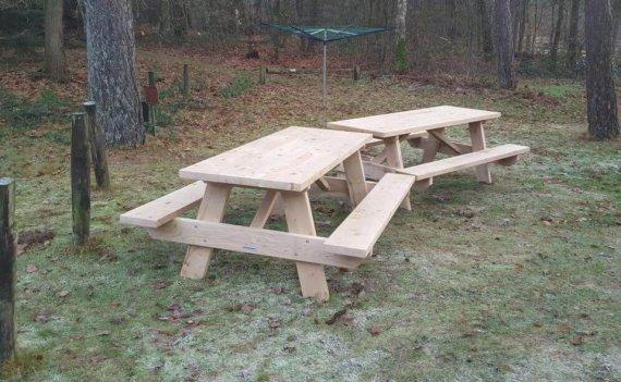 houten picknicktafels 2 meter