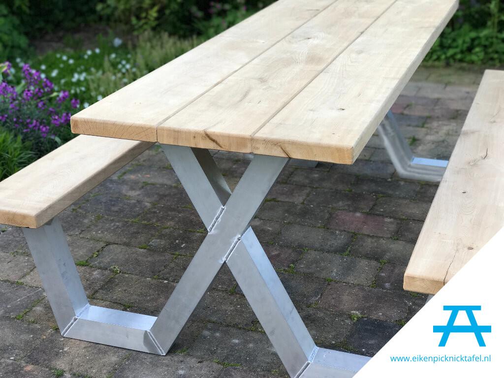 Picknick Tafel Aluminium.Picknicktafel Met Aluminium Frame Elke Ral Kleur Mogelijk